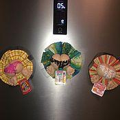 Для дома и интерьера ручной работы. Ярмарка Мастеров - ручная работа Магнит на холодильник ПОПИК-НАПОМИНАНИЕ. Handmade.