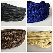 Материалы для творчества ручной работы. Ярмарка Мастеров - ручная работа Текстильный шнур 10мм, черный, синий, коричневый, бежевый. Handmade.