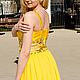 Платья ручной работы. Жёлтое платье. Екатерина. Ярмарка Мастеров. Для выпускного, шифон