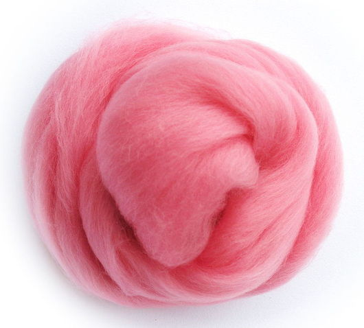 Валяние ручной работы. Ярмарка Мастеров - ручная работа. Купить Меринос 18 мк, Италия - цвет Младенец. Handmade. Розовый
