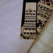 Канва ручной работы. Ярмарка Мастеров - ручная работа Рушник-заготовка-4 льняной и белый со вставками для вышивки. Handmade.