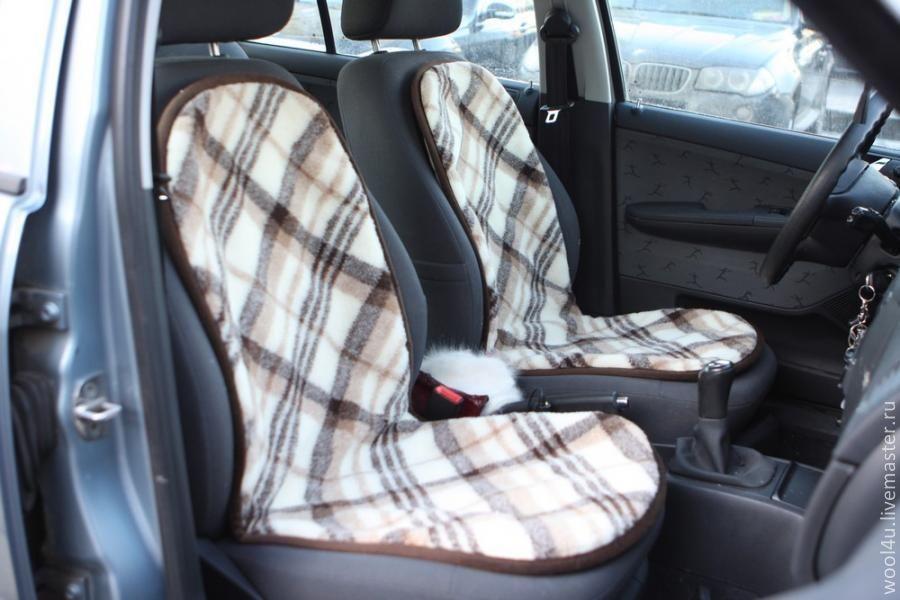 Накидка на автомобильные кресла своими руками