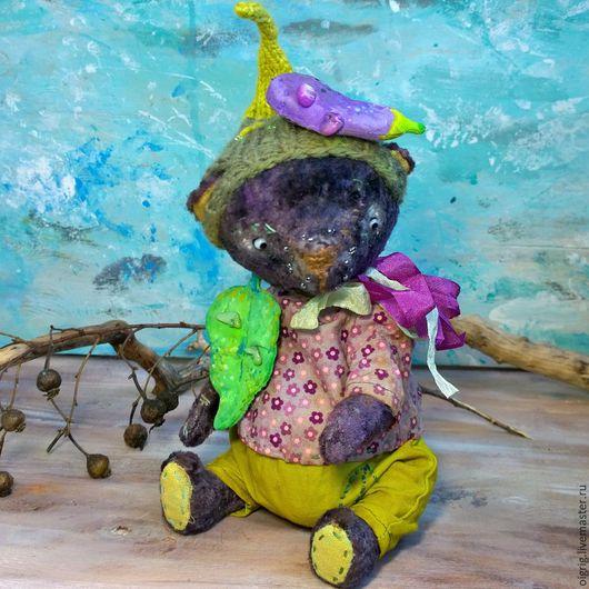Мишки Тедди ручной работы. Ярмарка Мастеров - ручная работа. Купить Баклажанкин. Handmade. Тёмно-фиолетовый, баклажан, плюш винтажный