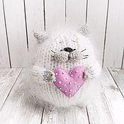 Мягкие игрушки ручной работы. Ярмарка Мастеров - ручная работа Вязаная игрушка кот, пушистый толстый котик амигуруми ручной работы. Handmade.