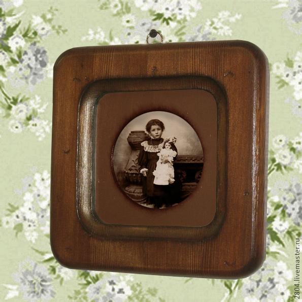 Фоторамки ручной работы. Ярмарка Мастеров - ручная работа. Купить Фоторамка № 40 деревянная Рамка для фото 'винтаж'. Handmade.