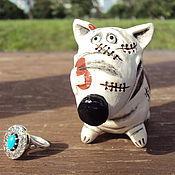 Куклы и игрушки ручной работы. Ярмарка Мастеров - ручная работа Бультерьерчик БУЛЬ. Handmade.