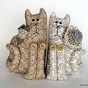 Куклы и игрушки ручной работы. Ярмарка Мастеров - ручная работа Коты неразлучники. Handmade.
