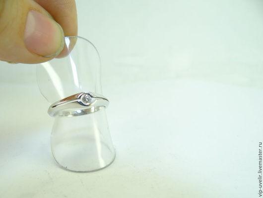 Кольца ручной работы. Ярмарка Мастеров - ручная работа. Купить Кольцо из белого золота 585 пробы с бриллиантом. Handmade. Золотой