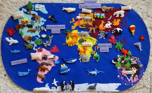 Развивающие игрушки ручной работы. Ярмарка Мастеров - ручная работа. Купить Плакат КОНТИНЕНТЫ, Животные Мира. Handmade. Животные континентов