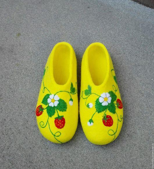 Обувь ручной работы. Ярмарка Мастеров - ручная работа. Купить Клубничка. Handmade. Лимонный, клубничка, обувь ручной работы, коридейл