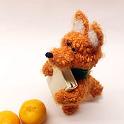 Куклы и игрушки ручной работы. Ярмарка Мастеров - ручная работа Рыжий Лис - друг Маленького Принца, игрушка вязаная. Handmade.