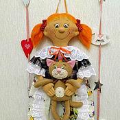 """Для дома и интерьера ручной работы. Ярмарка Мастеров - ручная работа Кукла - пакетница. """"Рыжая Соня"""". Handmade."""