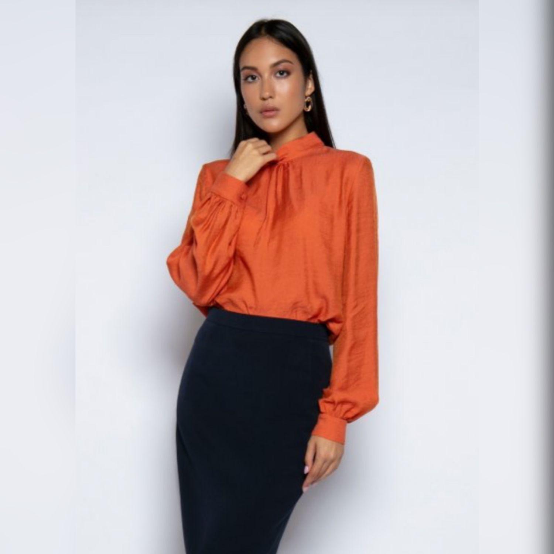 Блузка оранжевого цвета, Блузки, Москва,  Фото №1