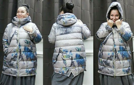 Большие размеры ручной работы. Ярмарка Мастеров - ручная работа. Купить Пуховик-куртка. Handmade. Куртка, куртка женская