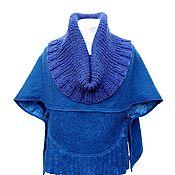 Одежда handmade. Livemaster - original item Poncho: Poncho-cape