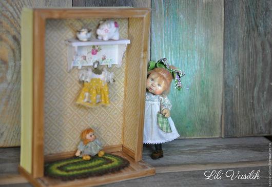 Коллекционные куклы ручной работы. Ярмарка Мастеров - ручная работа. Купить Маленькая мама ))) кукольная миниатюра 1/12. Handmade.