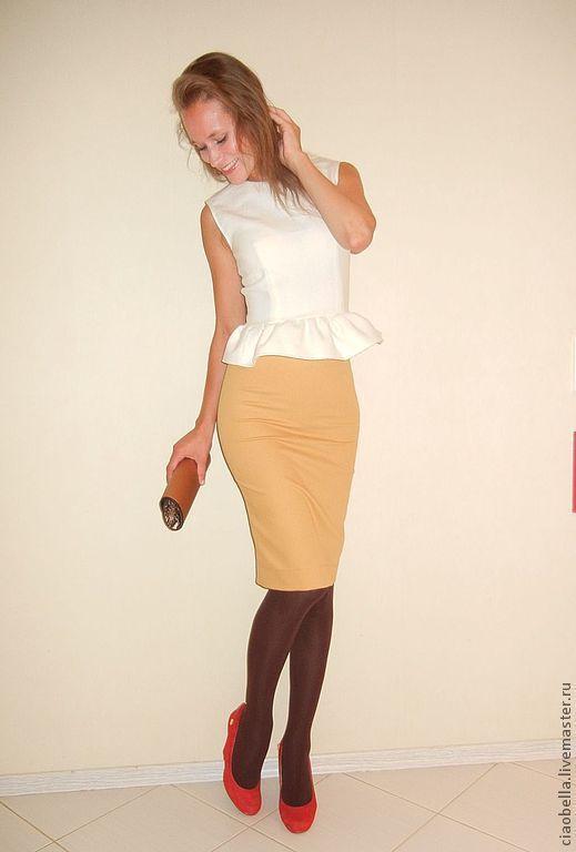 """Блузки ручной работы. Ярмарка Мастеров - ручная работа. Купить Блуза с Баской """"Romantico"""". Handmade. Белый, блуза с баской"""