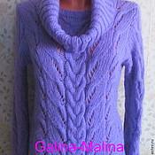 Одежда handmade. Livemaster - original item Lilac sweater with a detachable collar .. Handmade.