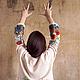 Кофты и свитера ручной работы. Цветущие маки...космоса знаки :). Alena Barabulka. Ярмарка Мастеров. Полевые цветы, шерсть