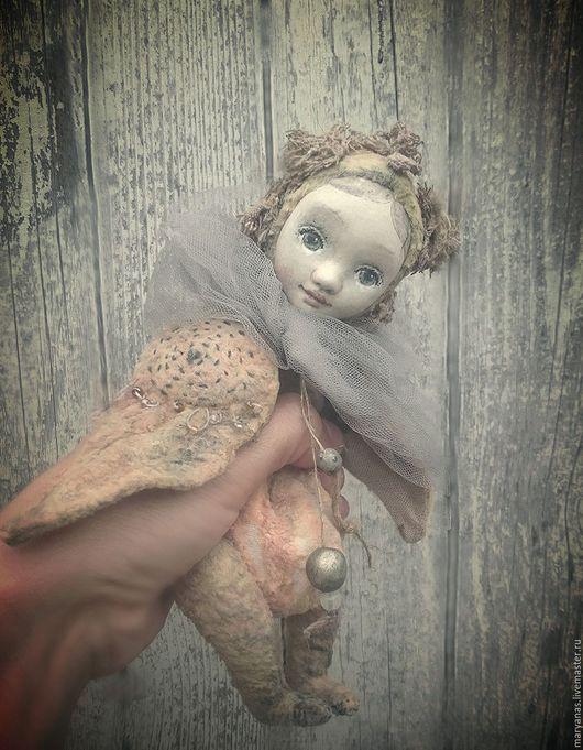 """Коллекционные куклы ручной работы. Ярмарка Мастеров - ручная работа. Купить """"Не стану больше плакать..."""" птичка тедди-долл. Handmade."""
