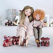 """Куклы и игрушки ручной работы. Ярмарка Мастеров - ручная работа """"По жизни вместе"""". Handmade."""