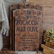 Для дома и интерьера ручной работы. Ярмарка Мастеров - ручная работа «Итальянская кухня» Набор разделочных досок. Handmade.