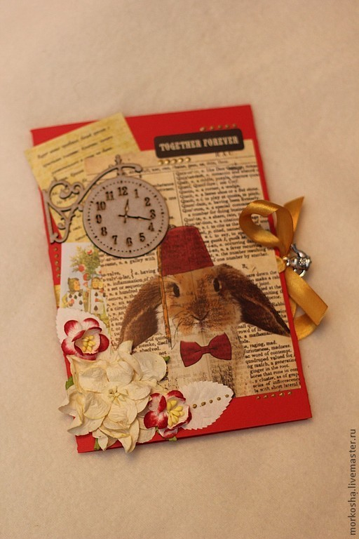 Свадебные открытки ручной работы. Ярмарка Мастеров - ручная работа. Купить Алиса в стране чудес. Handmade. Свадебная открытка