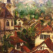Картины и панно ручной работы. Ярмарка Мастеров - ручная работа Крыши Швейцарии. Handmade.