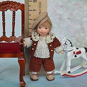 Куклы и игрушки ручной работы. Ярмарка Мастеров - ручная работа Кукла миниатюрная  подвижная 1:12. Handmade.