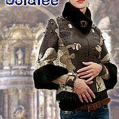 Одежда handmade. Livemaster - original item Jacket Bracers made of crocodile Python, leather-print, mink fur. Handmade.