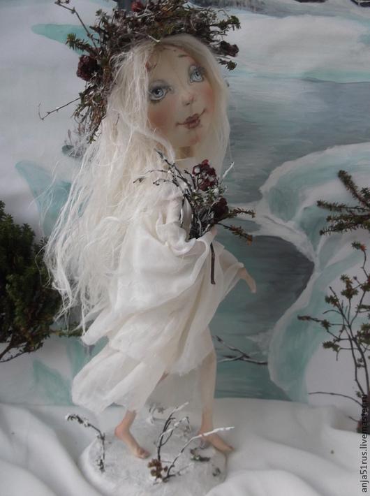 Куклы тыквоголовки ручной работы. Ярмарка Мастеров - ручная работа. Купить Снегурочка Январь продана. Handmade. Белый, тыквоголовая кукла