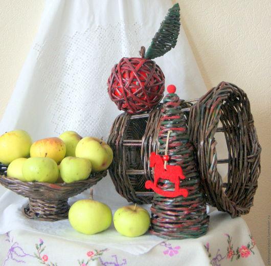 Персональные подарки ручной работы. Ярмарка Мастеров - ручная работа. Купить Набор подарочный с яблочком. Handmade. Коричневый, украшение интерьера