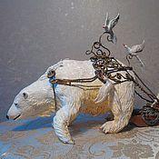"""""""Мишка"""" скульптура  из бархатного пластика"""