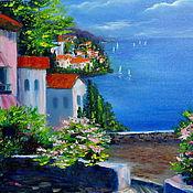 Картины и панно ручной работы. Ярмарка Мастеров - ручная работа Картина Средиземное море и я. Handmade.
