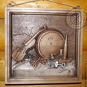 Картины и панно ручной работы. Ярмарка Мастеров - ручная работа Резное дерево_Вечерняя скрипка. Handmade.