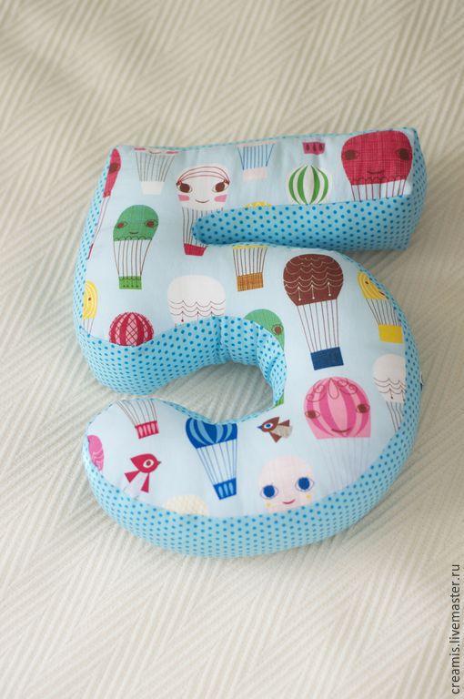 Текстиль, ковры ручной работы. Ярмарка Мастеров - ручная работа. Купить Подушка-цифра 5. Handmade. Дизайн, для детской