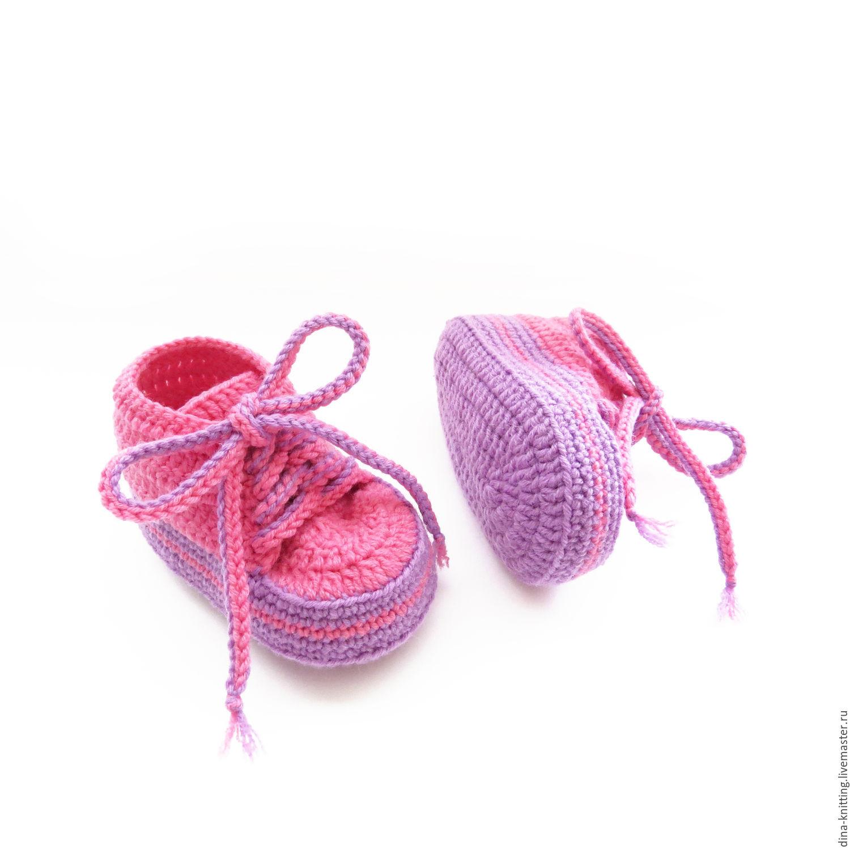 пинетки кеды вязаные кеды пинетки для девочки подарок на ...