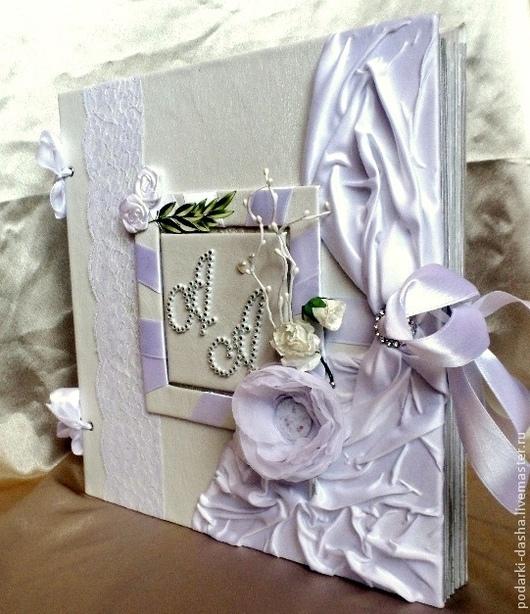 """Свадебные фотоальбомы ручной работы. Ярмарка Мастеров - ручная работа. Купить Свадебный фотоальбом кожаный """"Итальянский стиль"""". Handmade. Белый"""