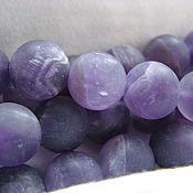 Материалы для творчества handmade. Livemaster - original item Amethyst matte bead 10 mm. Handmade.