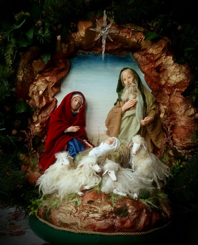 Картинки рождественский вертеп, открытку для мамы