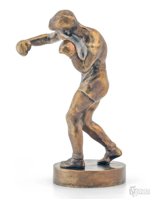 Статуэтки ручной работы. Ярмарка Мастеров - ручная работа. Купить Боксёр. Handmade. Подарок, боксерские перчатки, скульптура, бронза