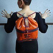 """Сумки и аксессуары ручной работы. Ярмарка Мастеров - ручная работа """"Огненный цветок"""" рюкзак.. Handmade."""