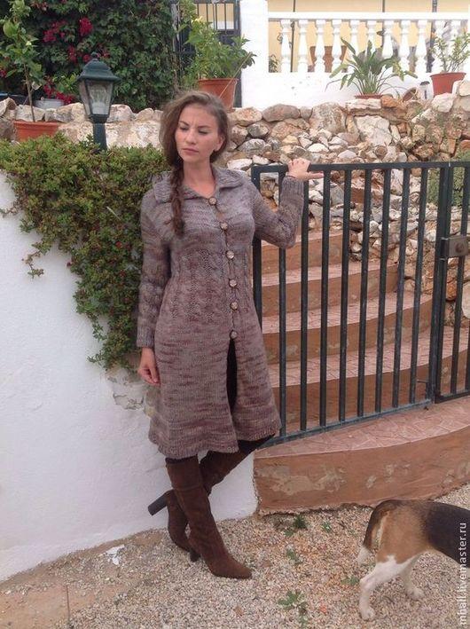 """Верхняя одежда ручной работы. Ярмарка Мастеров - ручная работа. Купить Пальто-кардиган """"Скоро осень"""". Handmade. Пальто вязаное"""
