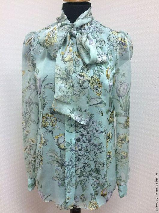 Блузка Amoday из шелка и воздушного шифона Valentino. Сделаем на заказ