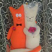 Свадебный салон ручной работы. Ярмарка Мастеров - ручная работа Свадебные коты-неразлучники. Handmade.