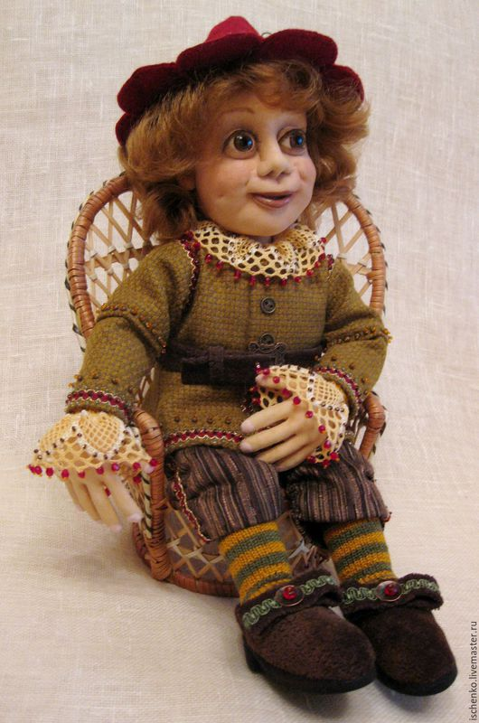 Коллекционные куклы ручной работы. Ярмарка Мастеров - ручная работа. Купить Кукла Гном. Handmade. Комбинированный, гном в подарок, бусины