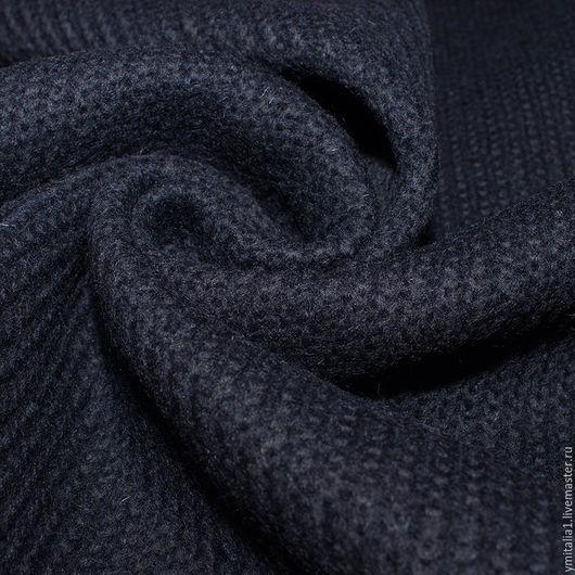 Шитье ручной работы. Ярмарка Мастеров - ручная работа. Купить Трикотаж шерстяной вязаный  синий Antonio Berardi. Handmade.