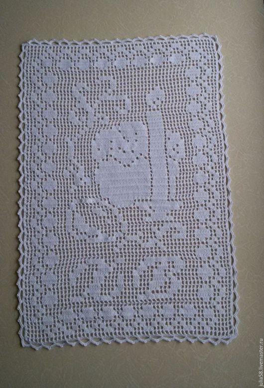 Текстиль, ковры ручной работы. Ярмарка Мастеров - ручная работа. Купить Пасхальная салфетка. Handmade. Белый, салфетка крючком, крючком