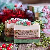 """Мыло ручной работы. Ярмарка Мастеров - ручная работа """"В рождественском лесу"""" натуральное мыло с нуля. Handmade."""