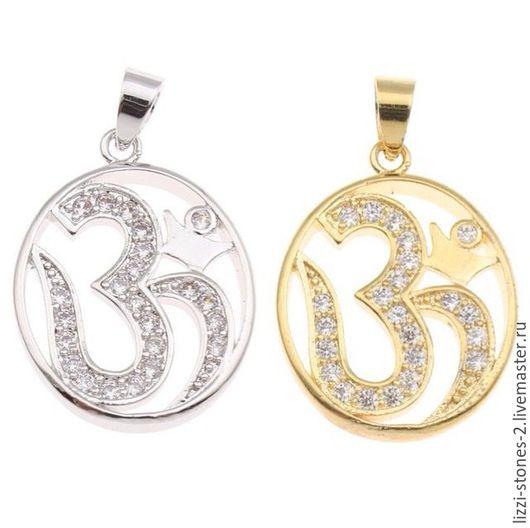 Подвеска ОМ серебро и золото (Milano) Евгения (Lizzi-stones-2)